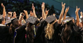 """Grads give one last """"Zot!"""""""