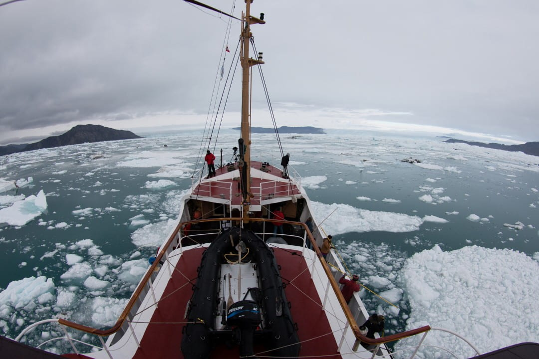 UCI and JPL glaciologists aboard the Cape Race