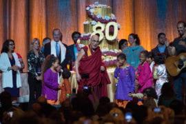 Dalai Lama's 80th birthday party draws 18,000 guests united behind compassion