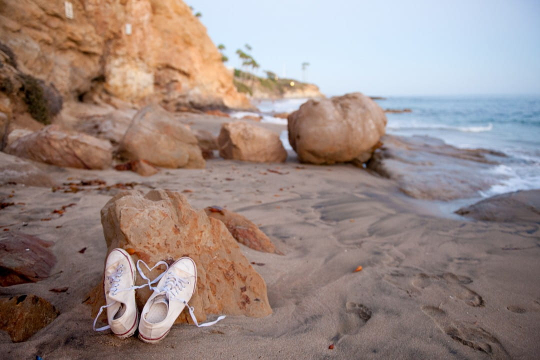Shoes on a beach
