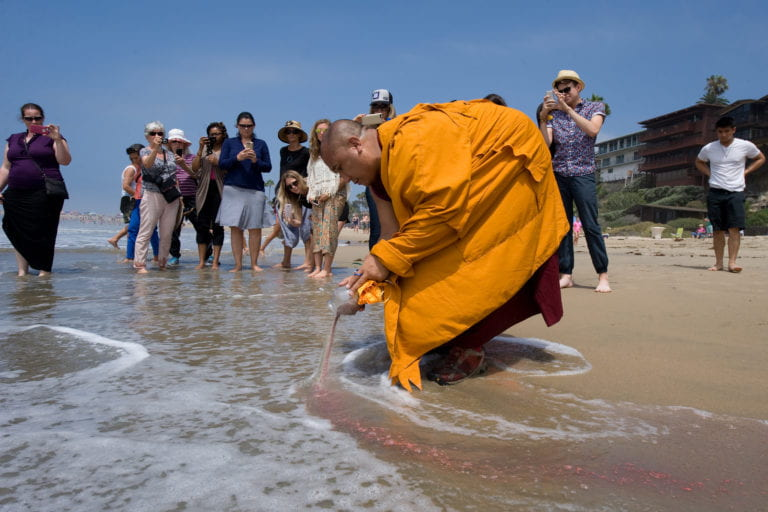 Sand mandala dissolved but not forgotten