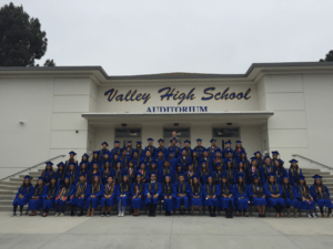 The Anteater Academy's first graduating class comprised 77 students – 13 of them headed to UCI this fall. Matthew Conover / Valley High School