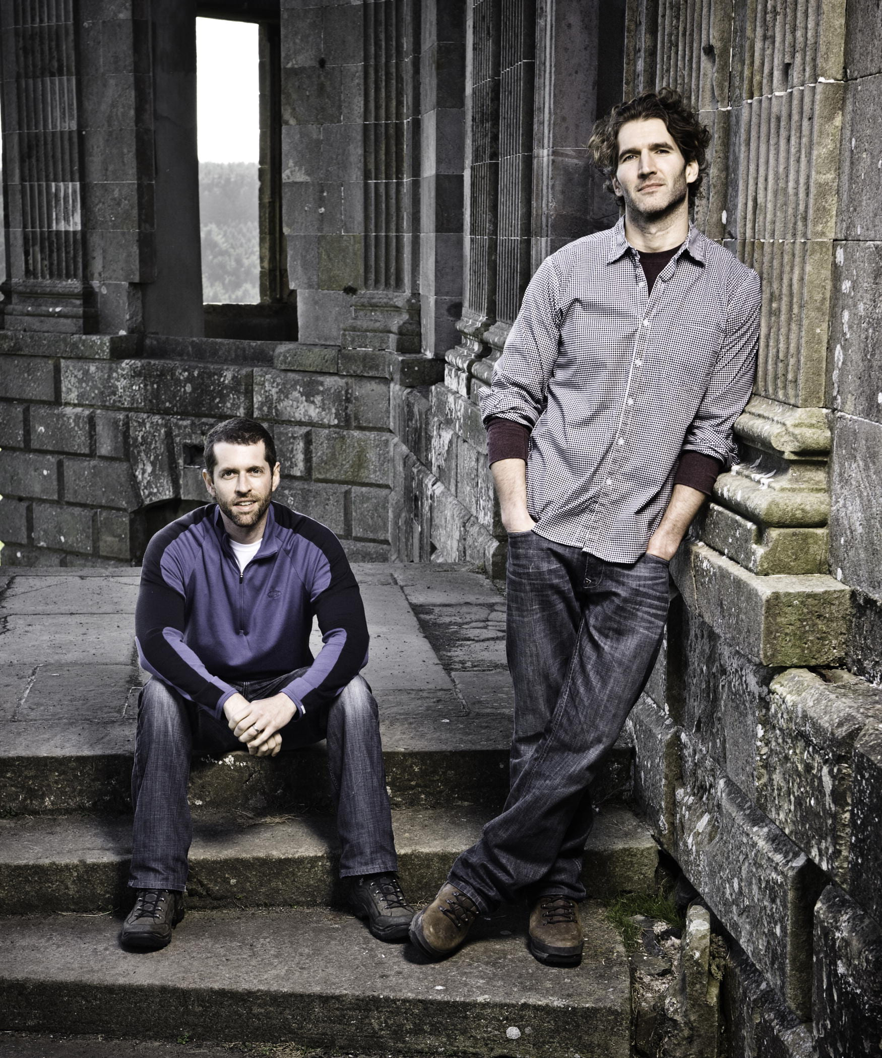 David Benioff (right) and D.B. Weiss