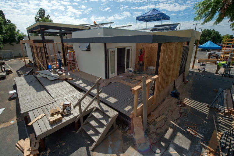 SoCal team invites media to tour poppy-inspired solar home designed for national competition