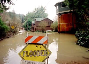 The 1997-98 El Nino caused flooding along the Russian River in Northern California. This winter's El Nino has the potential to be equally destructive. Dave Gatley / FEMA News Photo