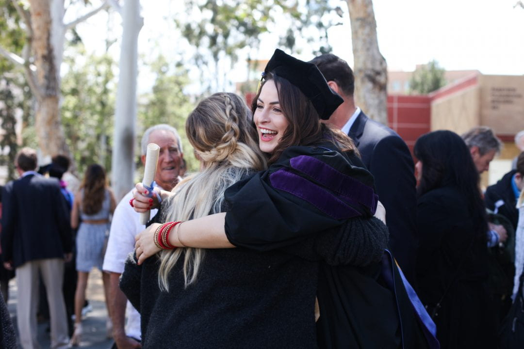 UCI's School of Law awarded 119 juris doctorate degrees this year. The graduation ceremony was held in May. Courtesy of UCI School of Law.