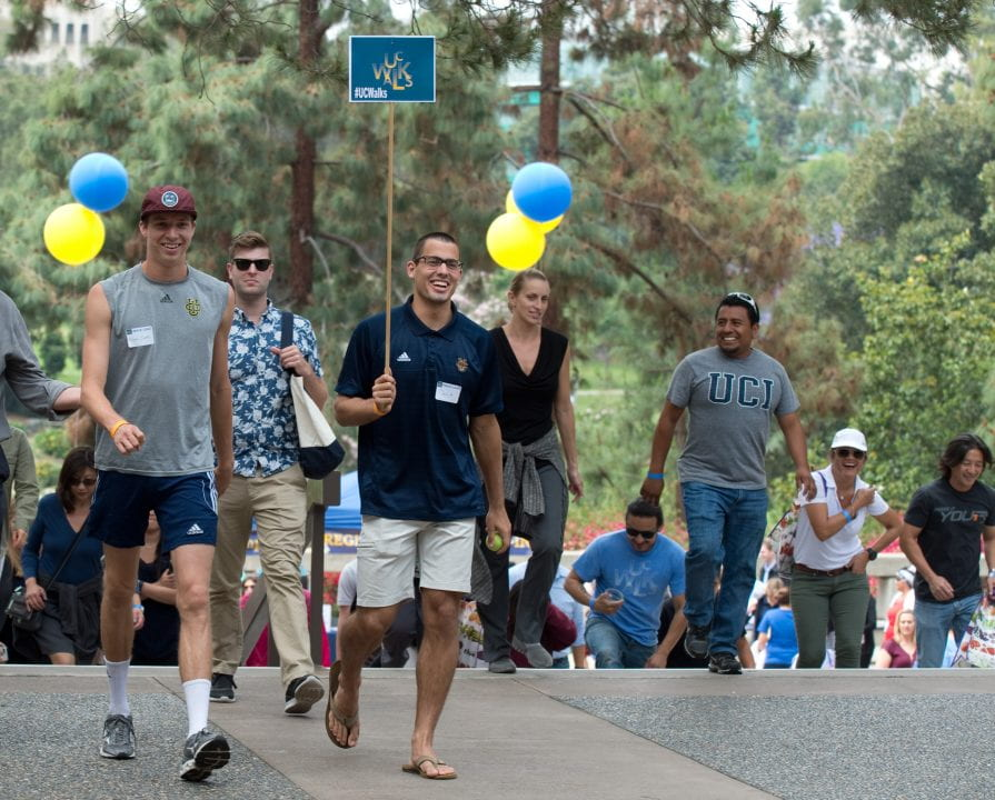 UCI staff and faculty participate in the UCI Walks event
