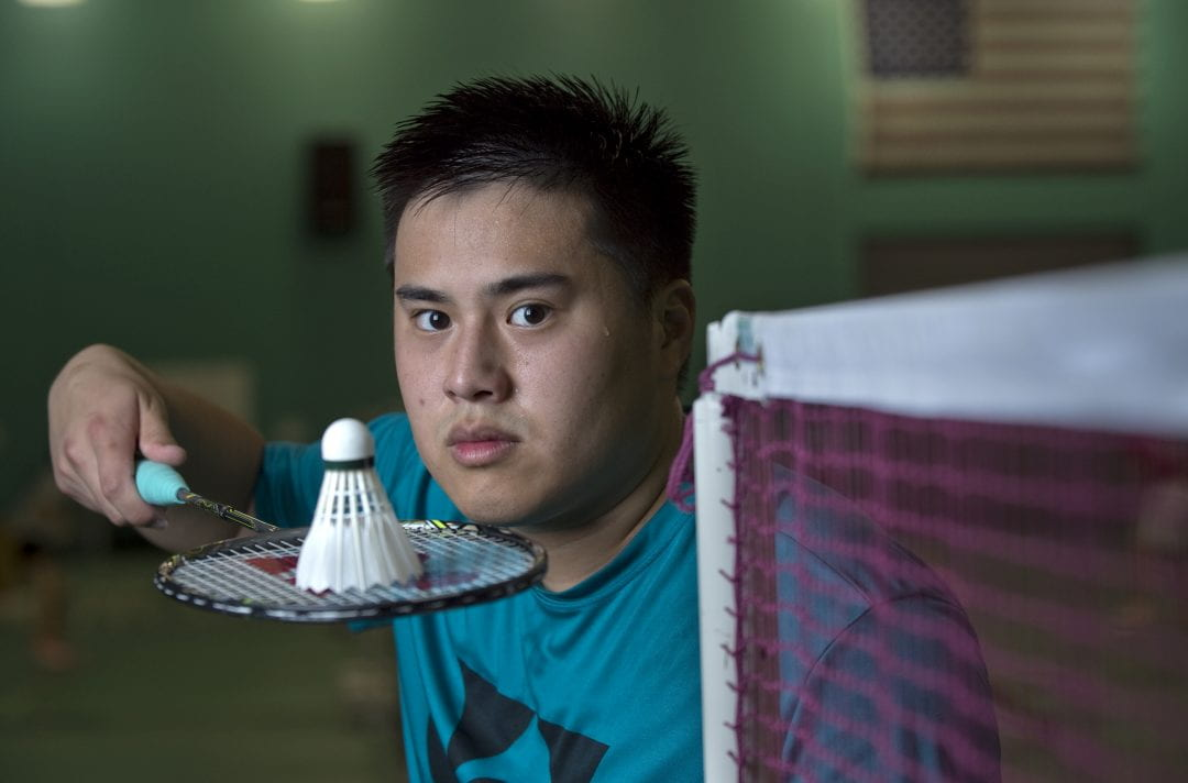 """More exposure will help people see badminton for what it really is,"" says Rio-bound UCI business economics major Phillip Chew, ""and Olympic medals will help it get an even bigger audience - like Michael Phelps did for swimming.""  Steve Zylius / UCI"
