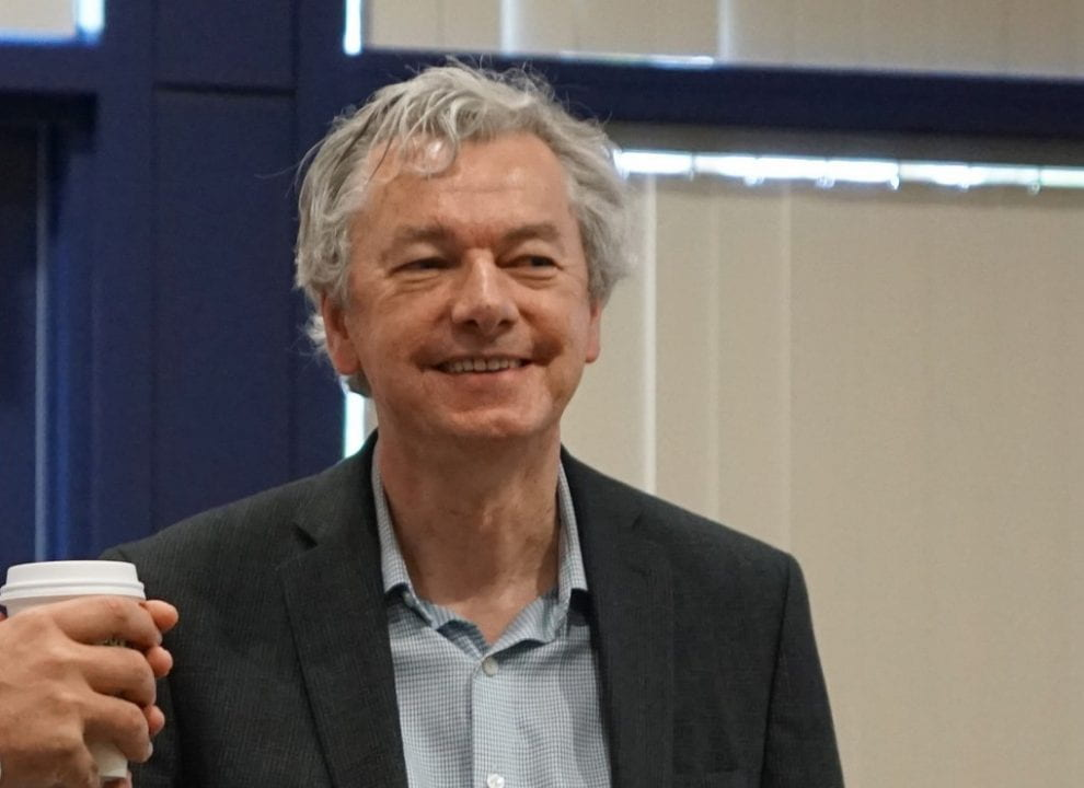 Team leader Padhraic Smyth is a professor of computer science and director of the campus's Data Science Initiative.
