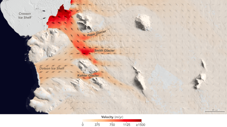 UCI and NASA document accelerated glacier melting in West Antarctica