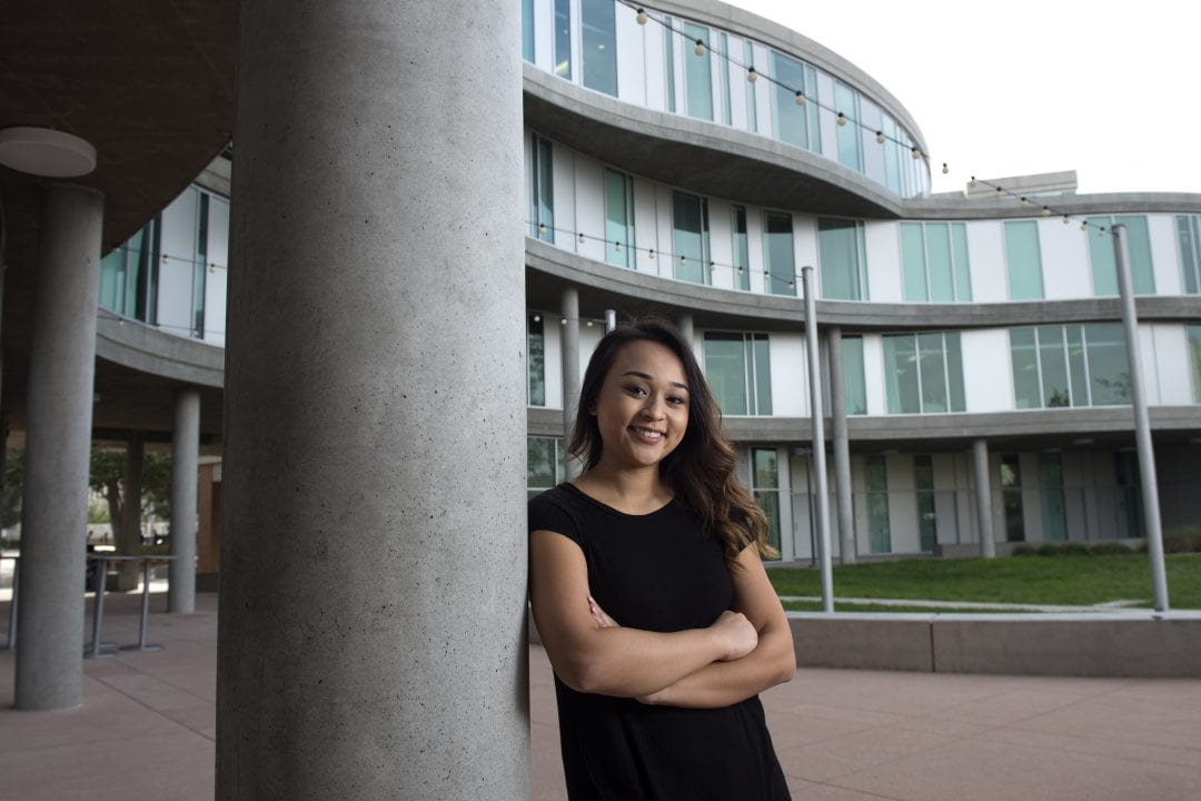 """To think I was working closely with Emmy Award winners!"" says third-year film & media studies major Kaly Ngo, one of several UCI students who interned as production assistants on ""Hard Knocks.""  Steve Zylius / UCI"