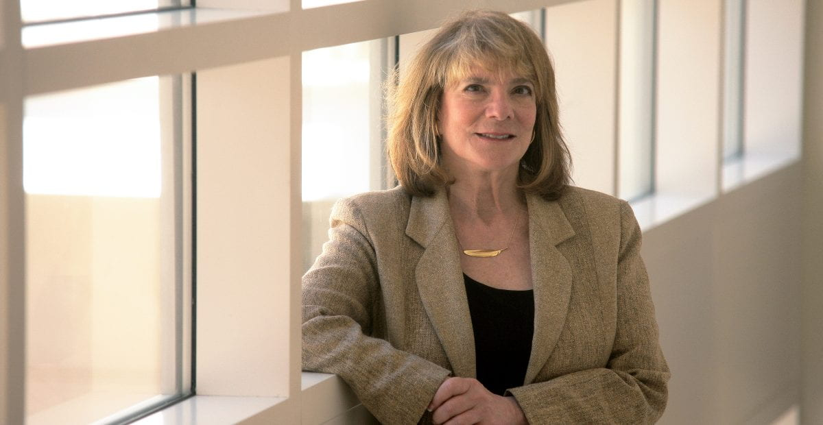 """Receiving this award helps to erase the pain of insults, death threats and lawsuits,"" says UCI Distinguished Professor Elizabeth Loftus, whose research findings and courtroom testimony on the malleability of human memory have been controversial.  Hoang Xuan Pham / UCI"