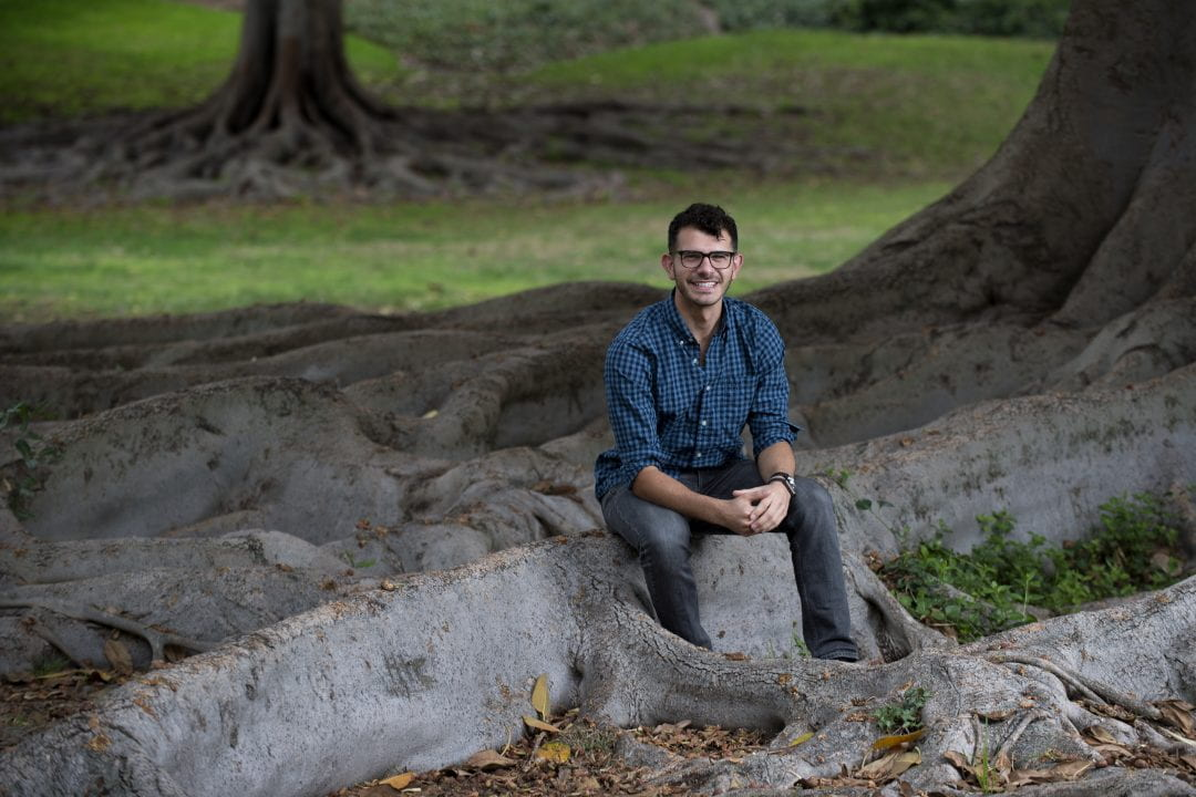 """My Global Partners for Sustainability project is not about reinventing the wheel but bolstering what we already have here on campus,"" says UCI Dalai Lama Scholar Andrew Hallak, an international studies major.  Steve Zylius / UCI"