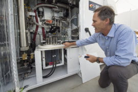 In a national first, UCI injects renewable hydrogen into campus power supply
