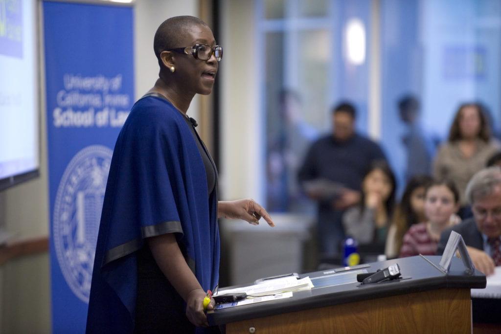 UCI law professor and firearm activist Michele Goodwin