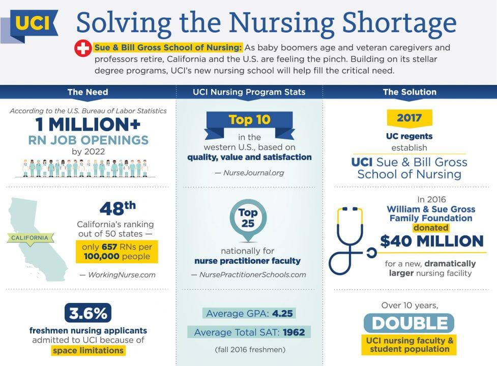 Nursing school infographic