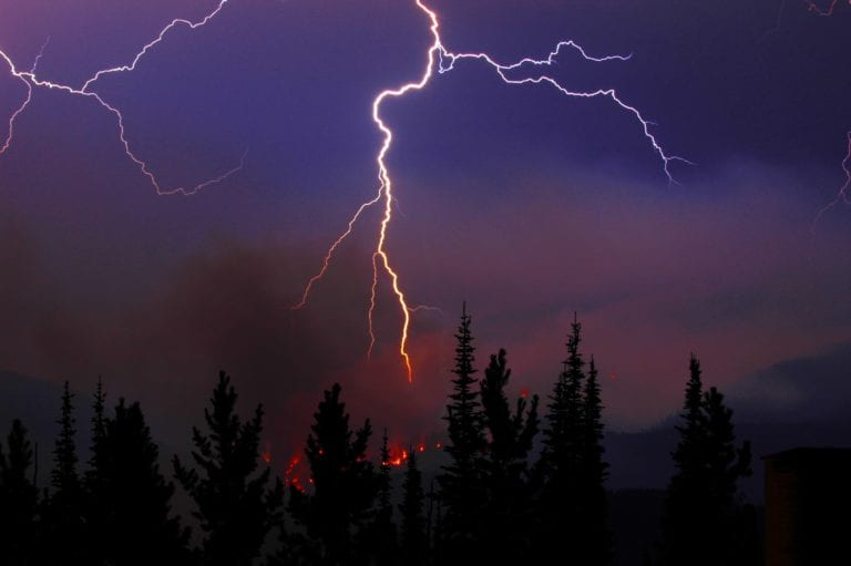 Climate warming shifts lightning-caused forest fires farther north