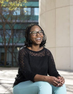 Lynnette Jackson, a UCI senior in human biology