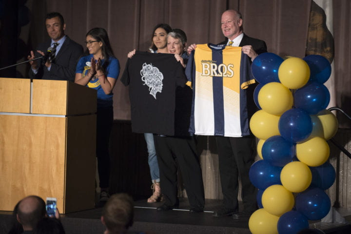 Gillman, Napolitano assure Anaheim High students that a UC education is within reach