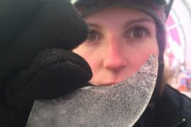 Grad student sees traces of fire in ice cores