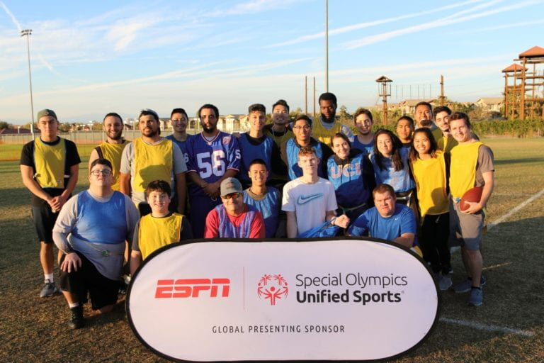 Campus Recreation partners with SoCal Special Olympics for flag football clinics