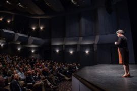 British astrophysicist who discovered pulsars delivers the 2019 Reines Lecture to full house