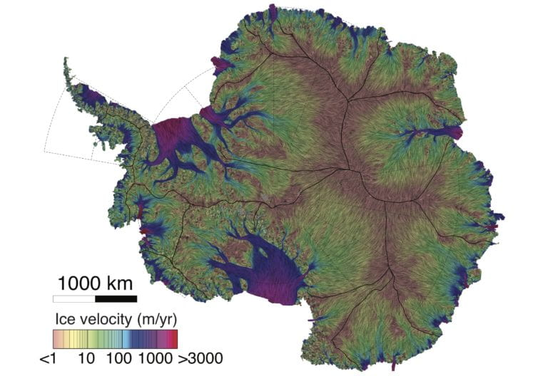 UCI, JPL glaciologists unveil most precise map ever of Antarctic ice velocity