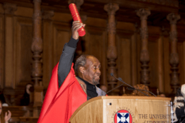 Ngugi wa Thiong'o receives honorary Doctor of Letters from the University of Edinburgh