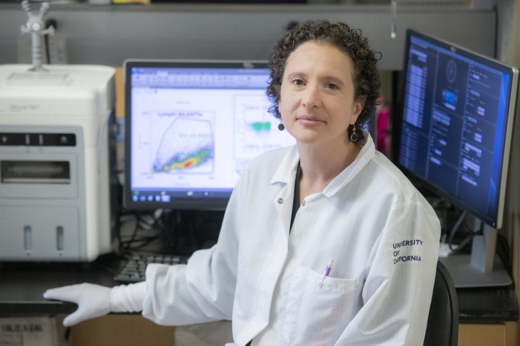 Ilhem Messaoudi Powers, associate professor of molecular biology & biochemistry, who's leading a study of UCI Health workers' exposure to COVID-19.