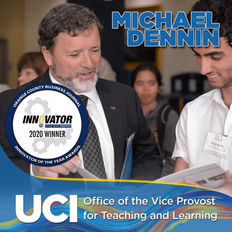Vice Provost Michael Dennin Named 2020 Innovator of the Year