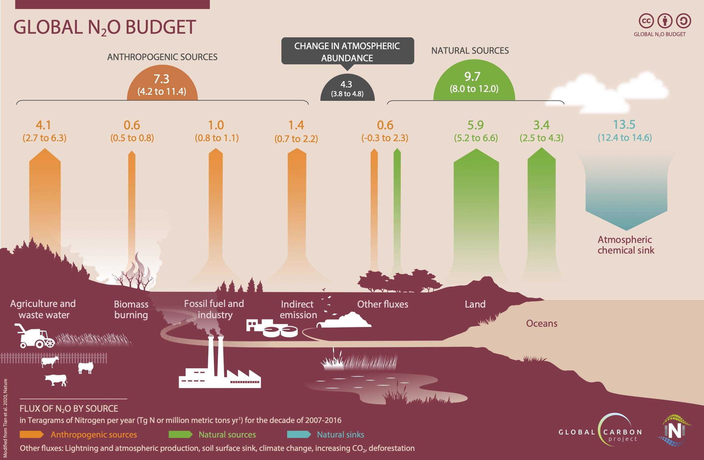 orçamento global de N2O