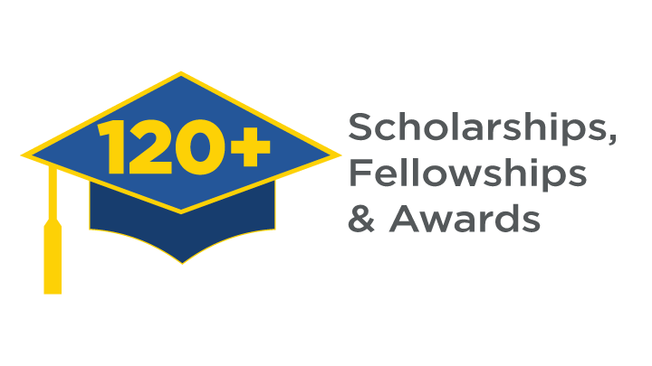 120 plus scholarships, fellowships and awards funded