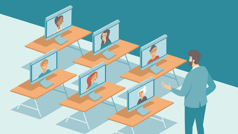 illustration of virtual classroom