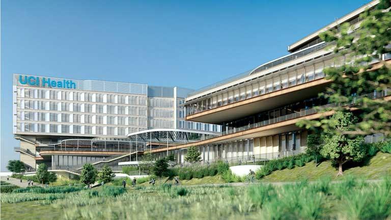 rendering of future UCI Medical Center in Irvine