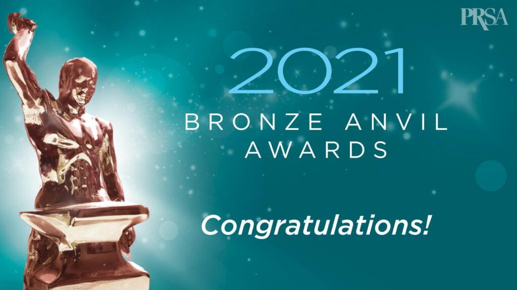 2021 Bronze Anvil Awards badge
