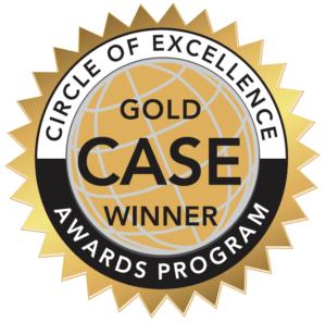 Gold CASE winner badge