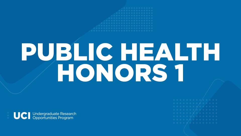 Public Health Honors 1