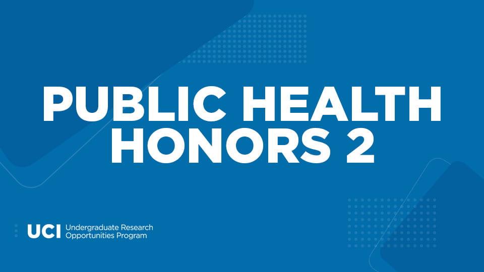 Public Health Honors 2