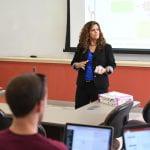 Professor Mariana Lebron in classroom