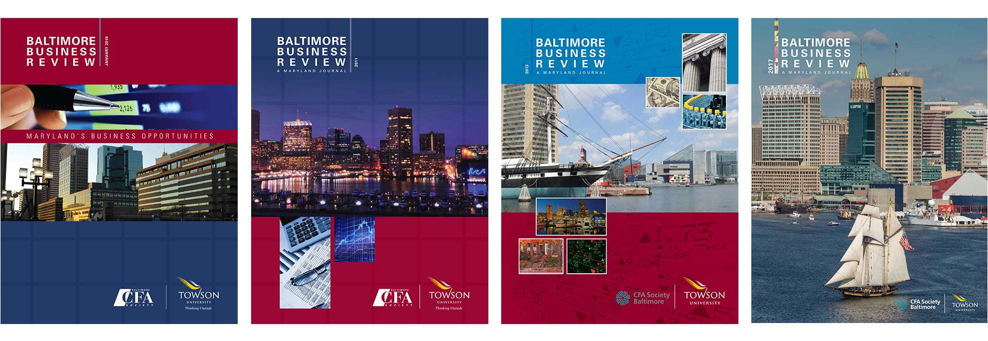 Covers of Past Baltimore Business Reviews