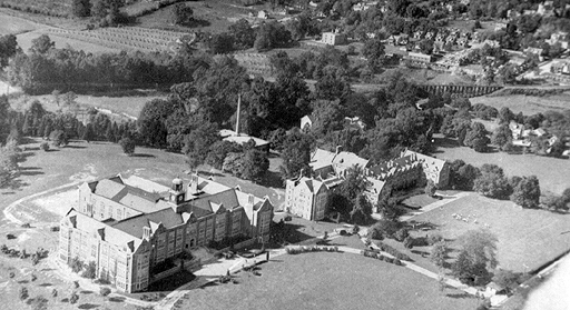 The campus before 1936 -- you can see Ma&Pa trestle in the upper right just beyond campus.
