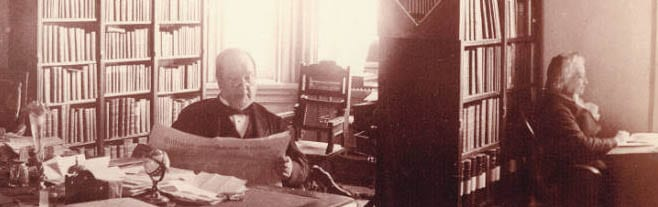 Figure 1: McFadden Alexander Newell in Principal's Office, Maryland State Normal School, 1887.