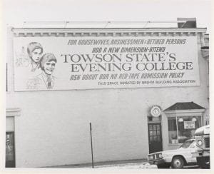 1973 billboard ad on Souris Saloon in Towson. The demographics TSC was aiming for seem a little narrow today.