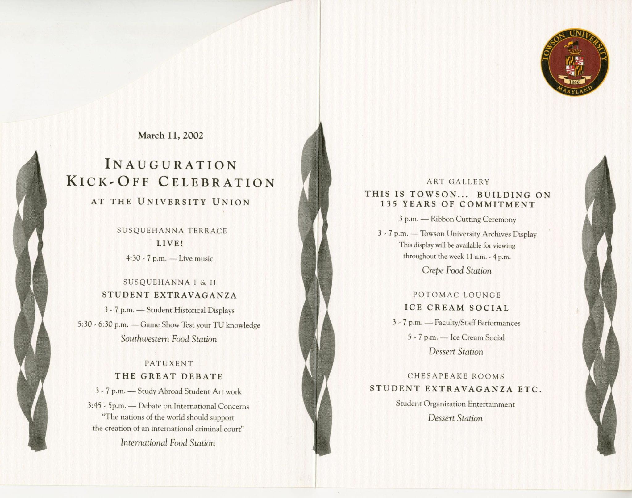 Perkins Inaugural Events