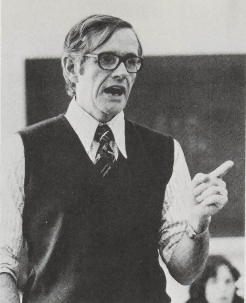 Photo of Bill Wallace from 1976 yearbook.