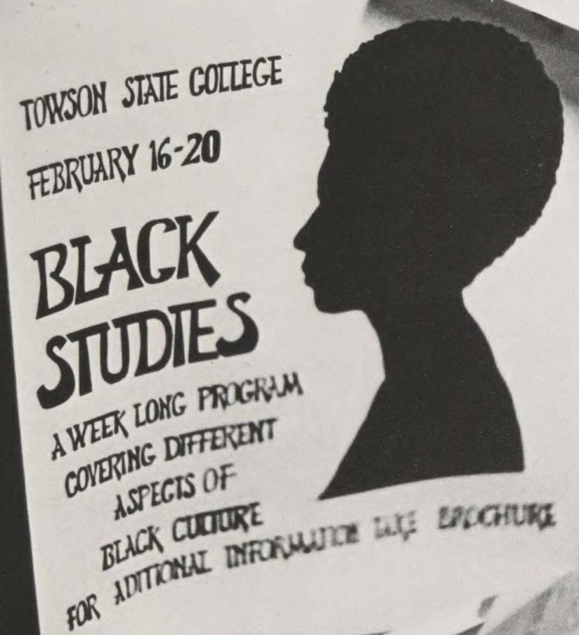 Flyer advertising weeklong program about Black Studies from 1970 yearbook