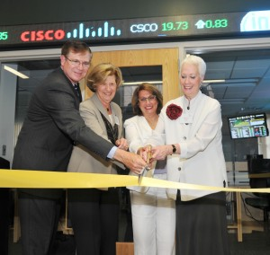 ribbon cutting of the T. Rowe Price Finance Lab