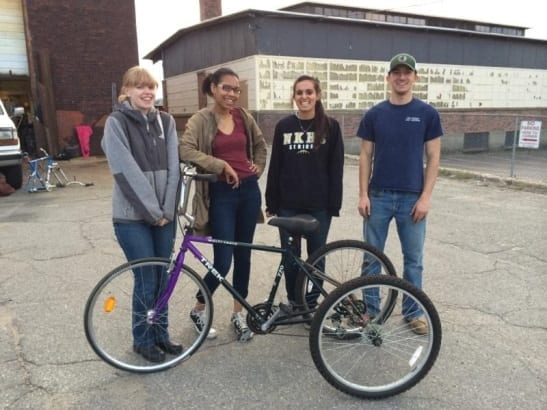 Worcester Earn-a-Bike project, conducted by WCPC students, Bror Axelsson, Jaclyn DeCristoforo, Kyla Rodger, Aida Waller, is selected as a finalist for the 2014 President's IQP Awards.