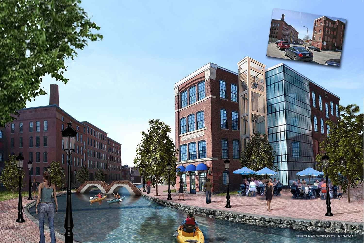 """A WCPC project conducted by WPI students Robert Crimmins, John Messier, Daniel Ouellette, and Nicolaus Spunar, in partnership with the Blackstone Canal District Alliance, is featured in an article titled, """"Study finds Blackstone Canal opening could deliver huge return on investment for Worcester"""" and published on MassLive.com."""