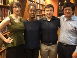 From Left to Right: Leah Holt, Rekik Tafesse, Franc Luga, Daniel Yun